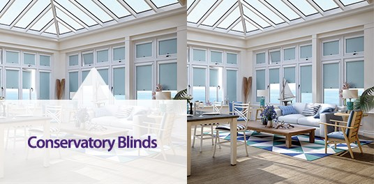 Enjoy your conservatory year-round with solar reflective and energy-efficient blinds