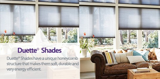 Unique honeycomb structure of Duette® shades available from Capricorn Blinds