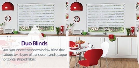Bespoke,custom made Duo blinds in Solihull, Birmingham and West Midlands Region