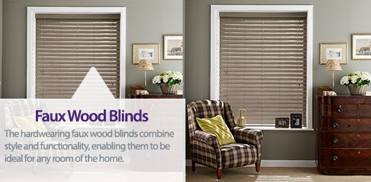 Bespoke,custom made faux wooden venetians blinds in Solihull, Birmingham and West Midlands Region