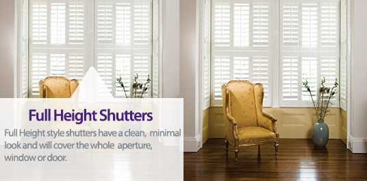 Full Height Shutters have a beautiful, minimal look with maximum impact