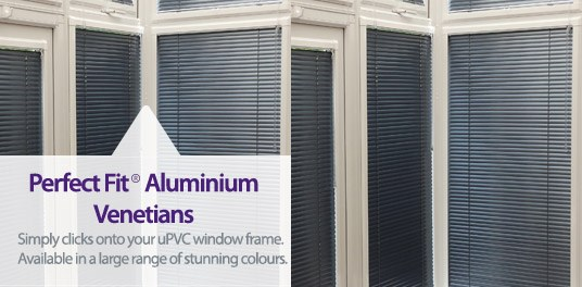 Perfect Fit® Aluminium Venetians No Gaps No, Screws