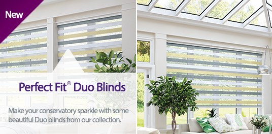Made to measure Perfect Fit Duo Blinds available from Capricorn Blinds