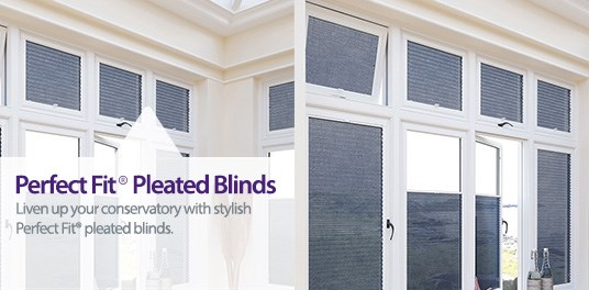 Liven up your conservatory with stylish Perfect Fit® Pleated Blinds from Capricorn Blinds