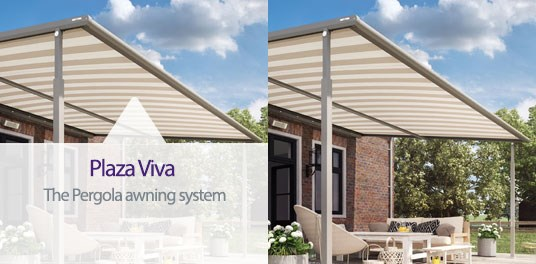 Plaza Viva Fabric Pergola Awning System