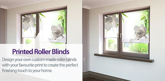Design your own roller blind from your favourite print or photo.