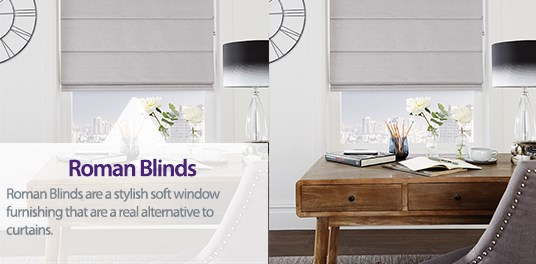 Bespoke,custom made Roman blinds in Solihull, Birmingham and West Midlands Region