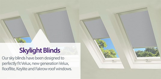 Bespoke,custom made skylight blinds in Solihull, Birmingham and West Midlands Region
