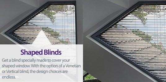 Bespoke,custom made Shaped blinds in Solihull, Birmingham and West Midlands Region