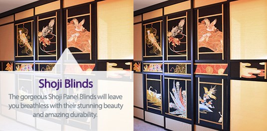 Bespoke, custom made Shoji blinds in Solihull, Birmingham and West Midlands Region