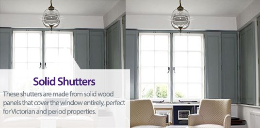 Solid Shutters are perfect for Victorian properties