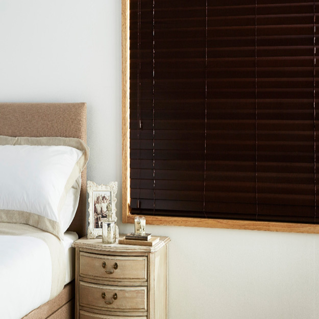 Dark Walnut Wooden Venetian Blind