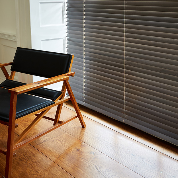 Dark Oak Brown Wooden Venetian Blind