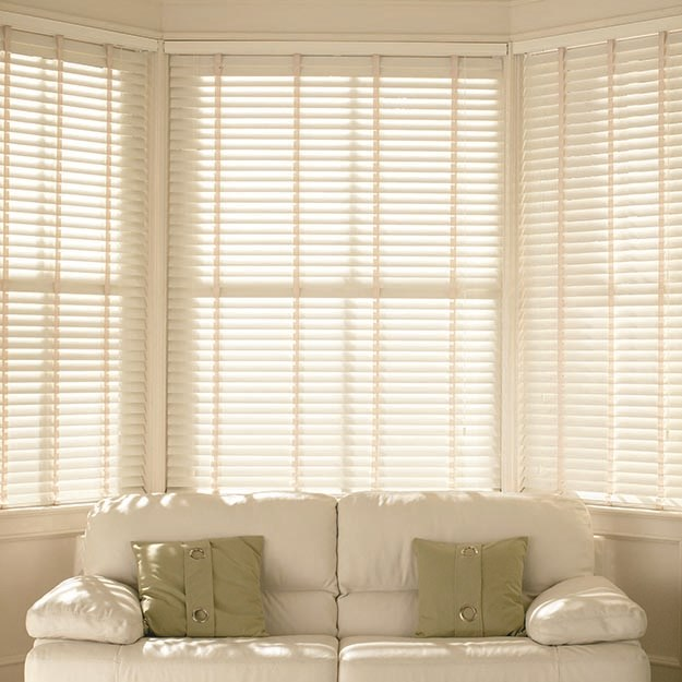Ecru Wooden Venetian Blinds