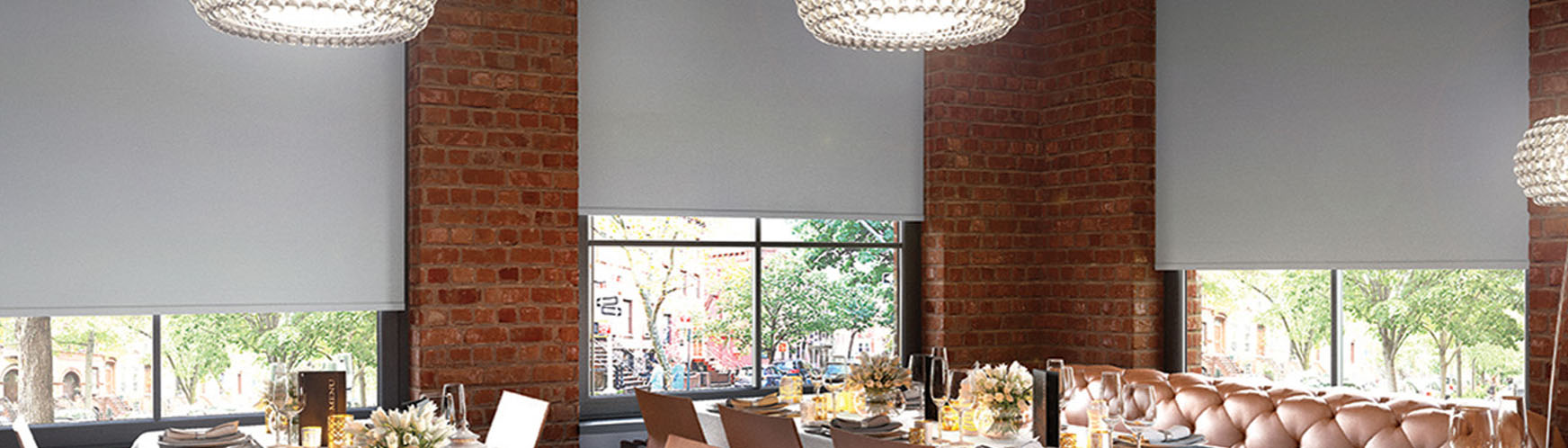 Blinds for restaurants and bars