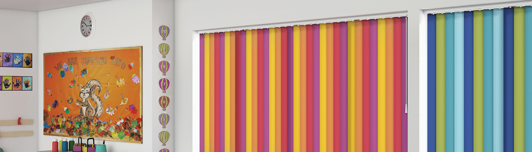 school blinds, classroom blinds