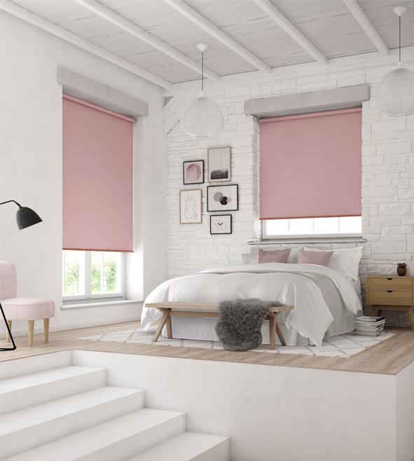 Blush Pink Roller Blind