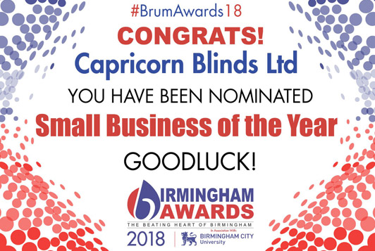 Capricorn Blinds Birmingham Awards 2018 Nominee
