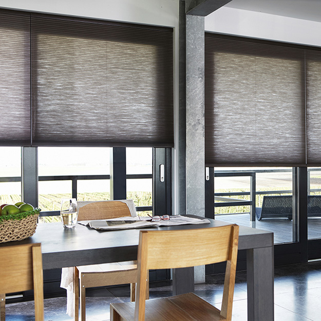 Dark grey Duette Blind