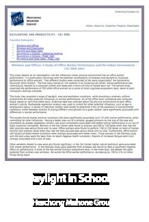 Daylight in Schools