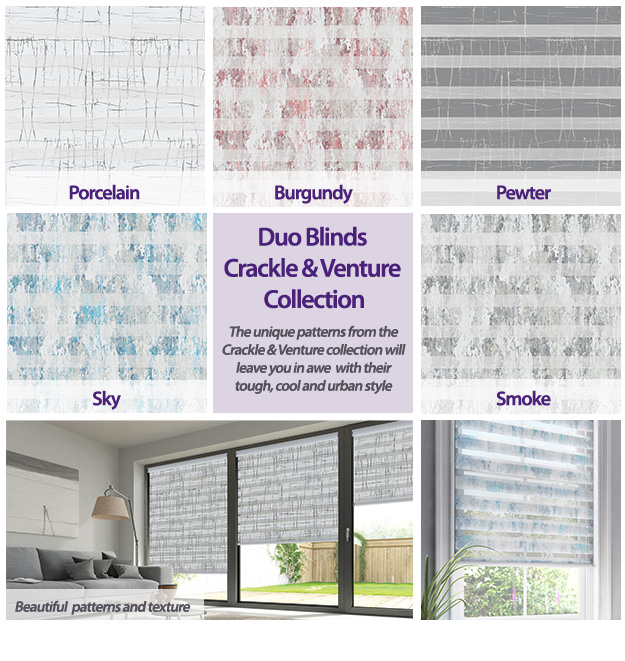 Duo Blinds Crackle & Venture Collection