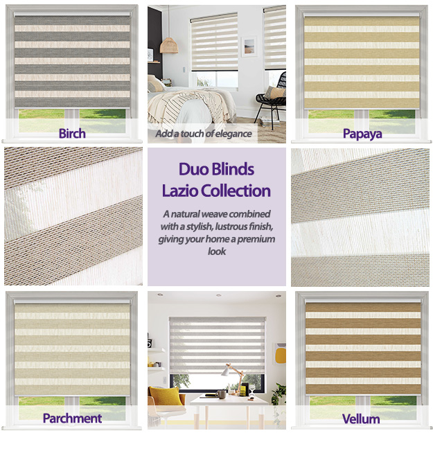 Duo Blinds Lazio Collection