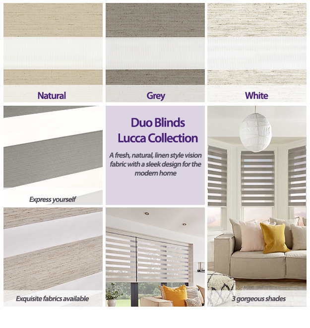 Duo Blinds Lucca Collection