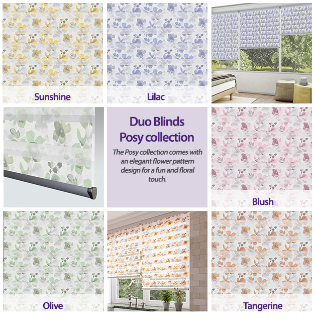 Duo Blinds Posy Collection