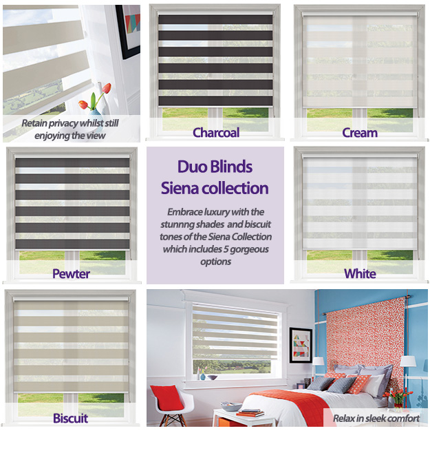 Duo Blinds Siena Collection
