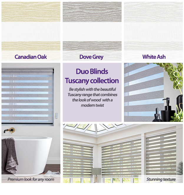 Duo Blinds Tuscany Collection