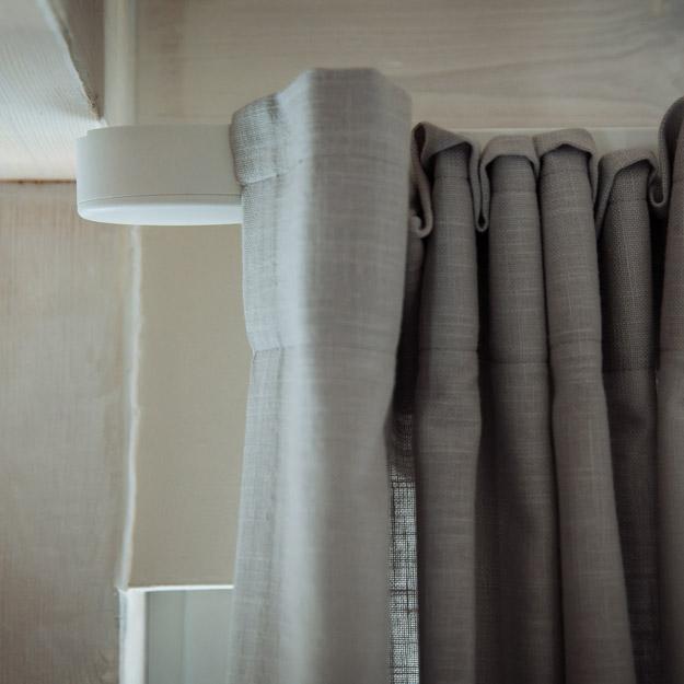 Somfy Glydea motorised curtain track - close up