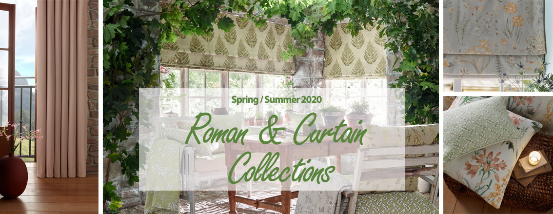New spring summer 2020 roman blinds and curtains