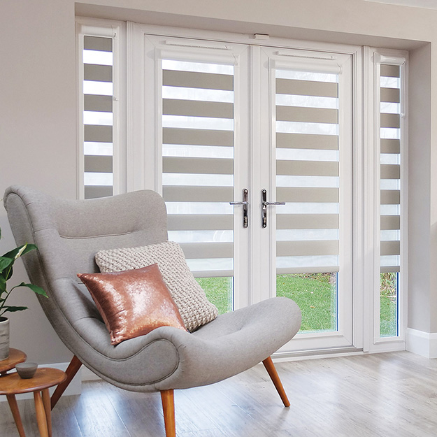 Silver Siena Biscuit Perfect Fit Duo Blind