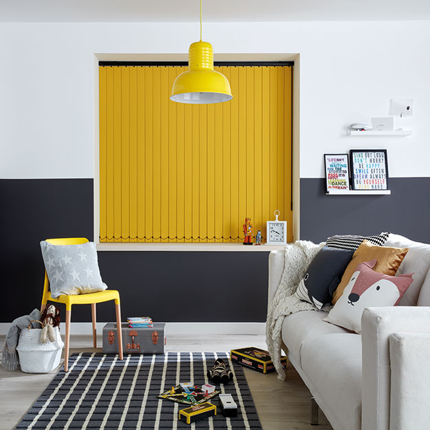 Bright Yellow Vertical Blind