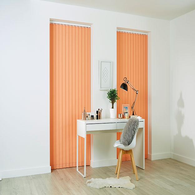 Bright Orange Vertical Blind