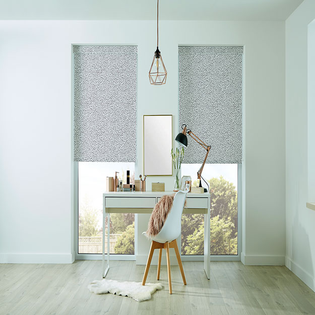 Inky Charcoal Roller Blind