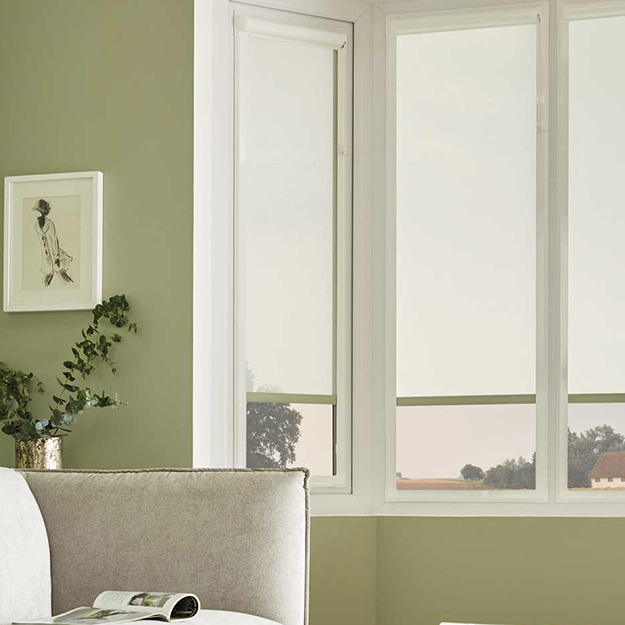 Perfect Fit Voile Sage Roller Blind