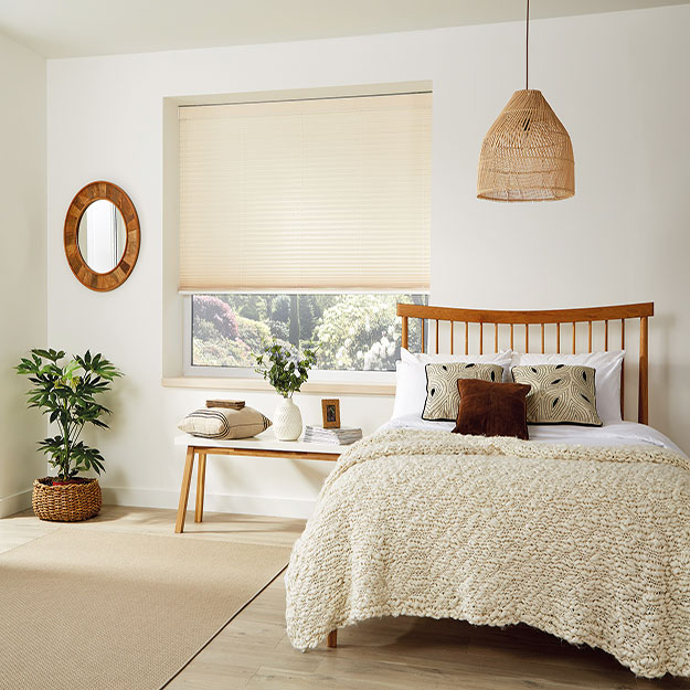 Basix Parchment Pleated Blind