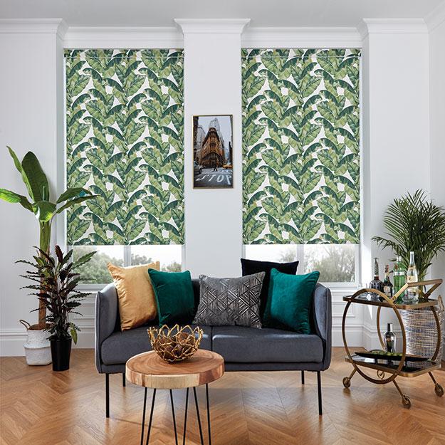 Palm Leaf Roller Blind