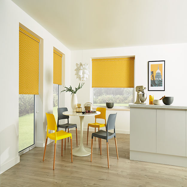 Pico Mustard Yellow Roller Blind