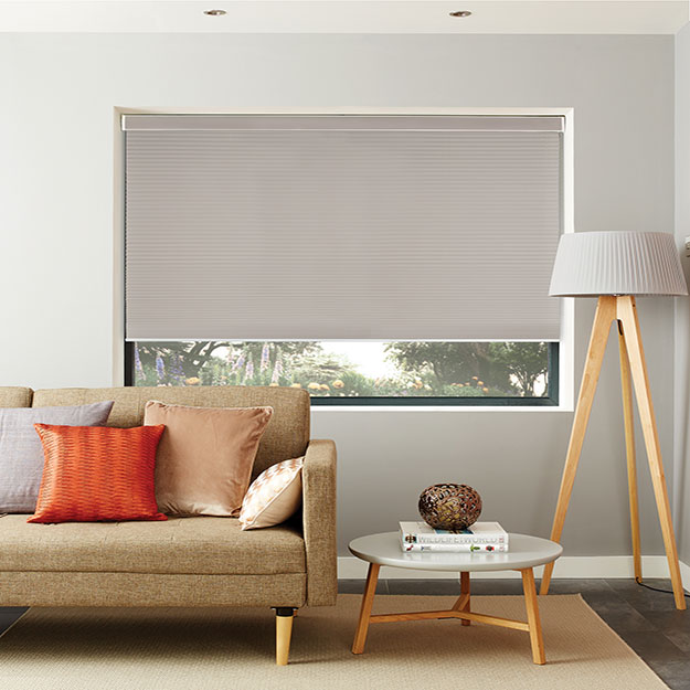 Steel Grey Pleated Blinds
