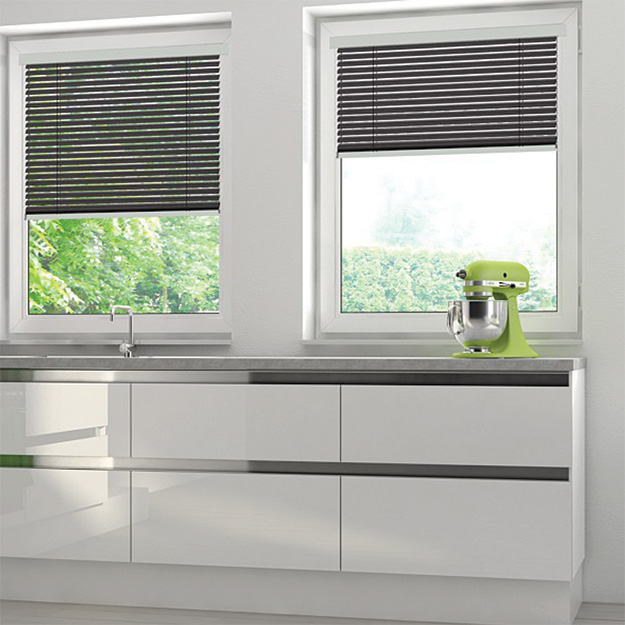 Matt Black Venetian Blind