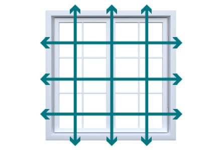 How to measure for blinds - Outside recess