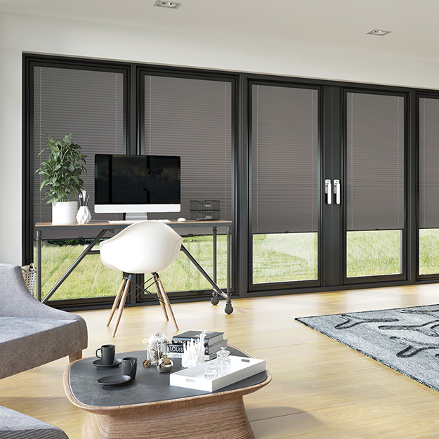 Dark Grey Perfect Fit Pleated Blind