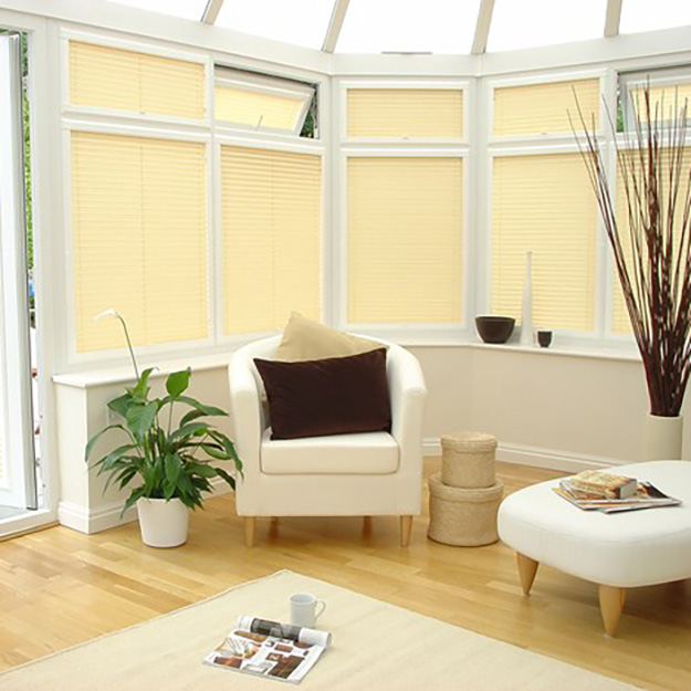 Yellow Perfect Fit Pleated Blind