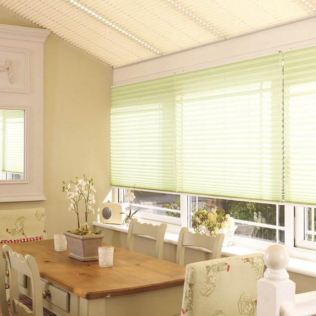 Stratford Cream Pleated Roof Blind