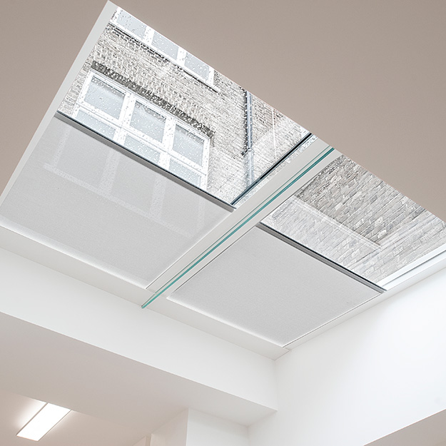 Rooflight Blinds Double white Blind