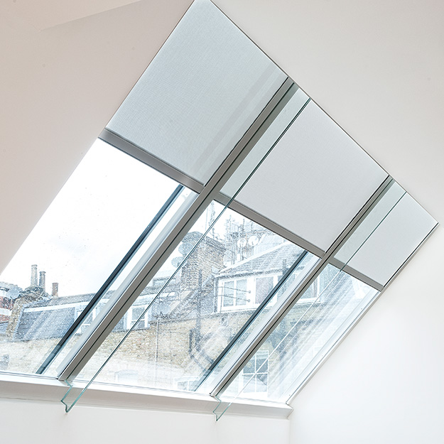 Rooflight Blind White Side View