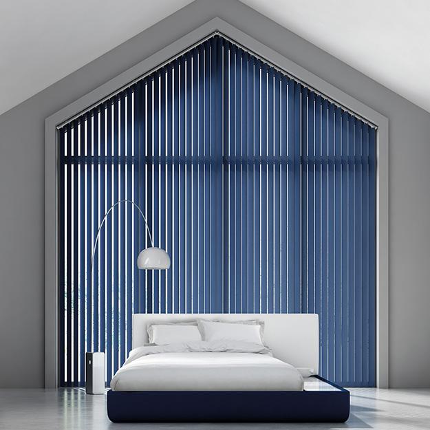 Sloped Vertical Blind Blue