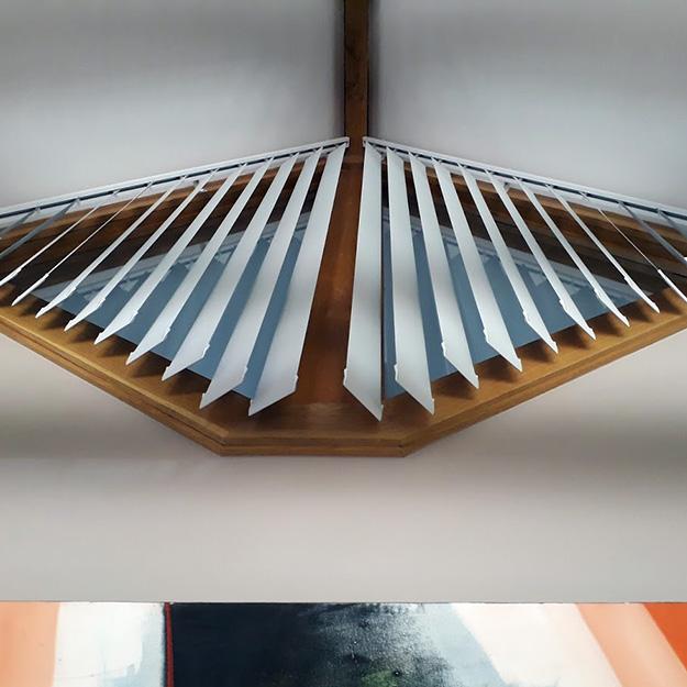 Vertical Blinds shaped windows Bottom View